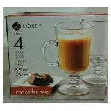 4 Libbey Irish Coffee Mugs - NEW