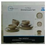 Mainstays 12 Piece Dinnerware Set - READ