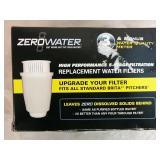 3 Zero Water Replacement Water Filters - NEW