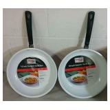 "2 Family Chef 10"" Ceramic Saute Pans - NEW"