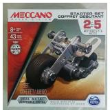 Meccano Motorcycle Starter Set - NEW