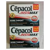 2 Cepacol Instamax Sore Throat Lozenges - NEW