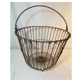 Rustic Metal Egg Basket