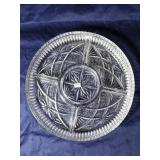 Crisal Glass Divided Serving Dish