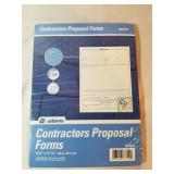 New Pack of Contractors Proposal Forms