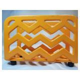 Orange Painted Cast Iron Napkin Holder