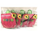 Lot of 4 New Flower Yard Wind Spinners