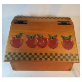 Country Apple Wooden Bread Box