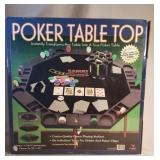 Poker Table Top and 100 Poker Chips