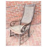 Antique Cane Bottom Rocking Chair HAND TIED!