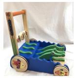 Melissa and Doug Wood Alligator Walker/Push Toy