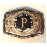 Vintage Monogram P Belt Buckle
