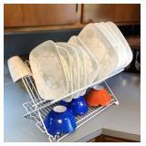 Foldable, Storable  Dish Draining Rack