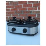 TRU Double Pot Slow Cooker 1.25qt