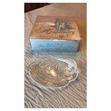 Antique Federal Glass Hospitality Snack Set