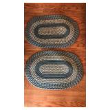 (2) Oval Braided Throw Rugs