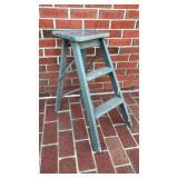 Antique Step Stool Ladder Solid Wood!