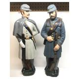 (2) Civil War Soldiers Ceramic Statue