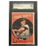 1959 TOPPS #202 ROGER MARIS, #50 VG/EX 4