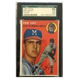 1954 TOPPS #141 JOE JAY, ROOKIE, #70 EX+ 5.5
