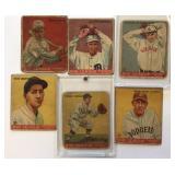 (6) 1933 GOUDY CARDS; 3, 15, 16, 28,