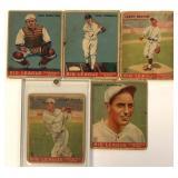 (5) 1933 GOUDY CARDS; 41, 43, 45, 46, 48