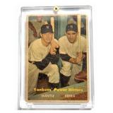 1957 Topps #407 Yankees Power Hitters