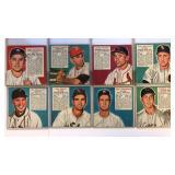 (8) 1952 Red Man Baseball Cards No Tab