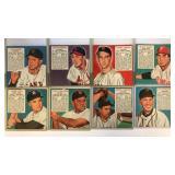 (8) 1952 Red Man Series Cards No Tab
