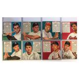 (8) 1952 Red Man Series Cards No Tabs