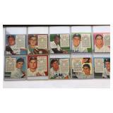 (10) 1954 Redman Tobacco Series No Tabs