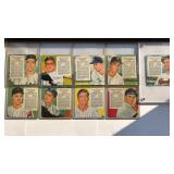 (9) 1955 Red Man Series Cards No Tabs