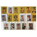 (17) 1952 Bowman 200 Series, Card #s 200-216