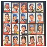 (20) 1953 TOPPS Series, Range from #33 to #90