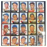 (20) 1953 TOPPS Series, Range from #124 to #159