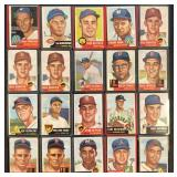 (20) 1953 TOPPS Series, Range from #159 to #189
