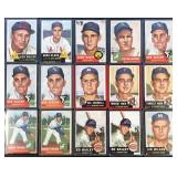 (15) 1953 TOPPS Series, Range from #190 to #208