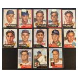 (13) 1953 TOPPS Series, Range from #209 to #251