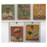 (5) 1933 GOUDY CARDS; 33, 34, 37, 38, 39