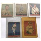 (6) 1933 GOUDY CARDS; 51, 61, 63, 65, 66