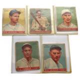 (5) 1933 GOUDY CARDS; 71, 77, 80, 90, 91