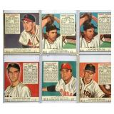 (6) 1952 Red Man National League Players