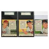 (3) 1954 Red Man All-Star Series Players