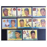 (8) 1955 TOPPS Series, Range #67 to #208