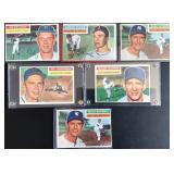 (6) 1956 TOPPS Series, Range #87 to #340