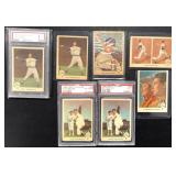 (7) 1959 Fleer Ted Williams, #61 to 70