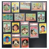 (16) 1959 TOPPS Series, from #452 to 511