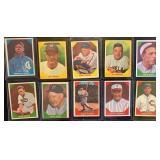 (10) 1960 Fleer Baseball Greats, Range #9 to #71