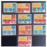 (10) 1961 National League Leaders, TOPPS, #41-#50