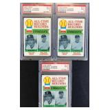 (3) 1979 TOPPS Series Graded #417 Strikeout
